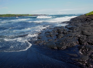 15 Cool! George said when he saw the lava mesh into black sand