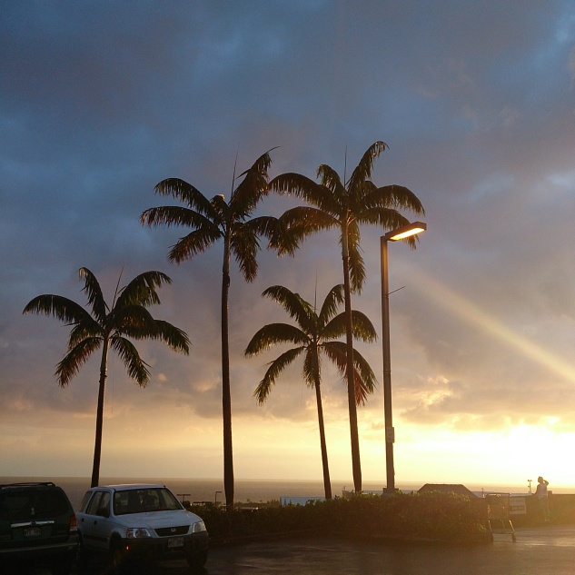 6 George said, Ooooo when he saw his first Hawaiian sunset in Kailua-Kona