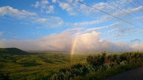68 After dinner George was back on Hwy 19 and saw dramatic gorges and a genuine Hawaiian rainbow!