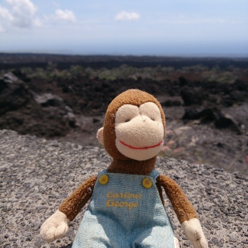 8 George couldn't be late for the wedding, so he took a quick trip down the coast and stopped at the lava fields