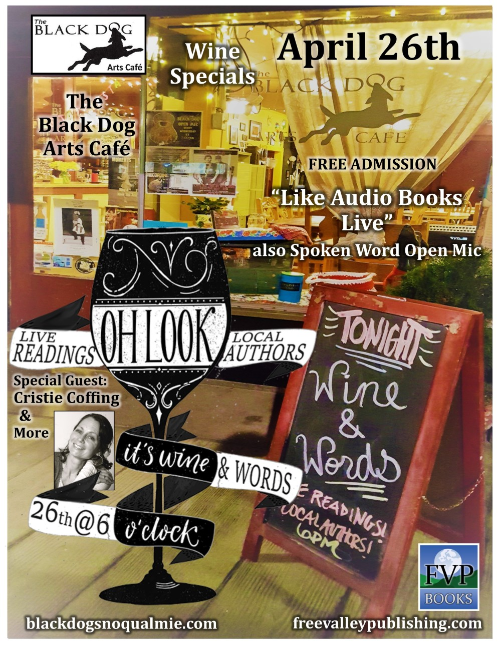 Wine and Words Flyer April 2018
