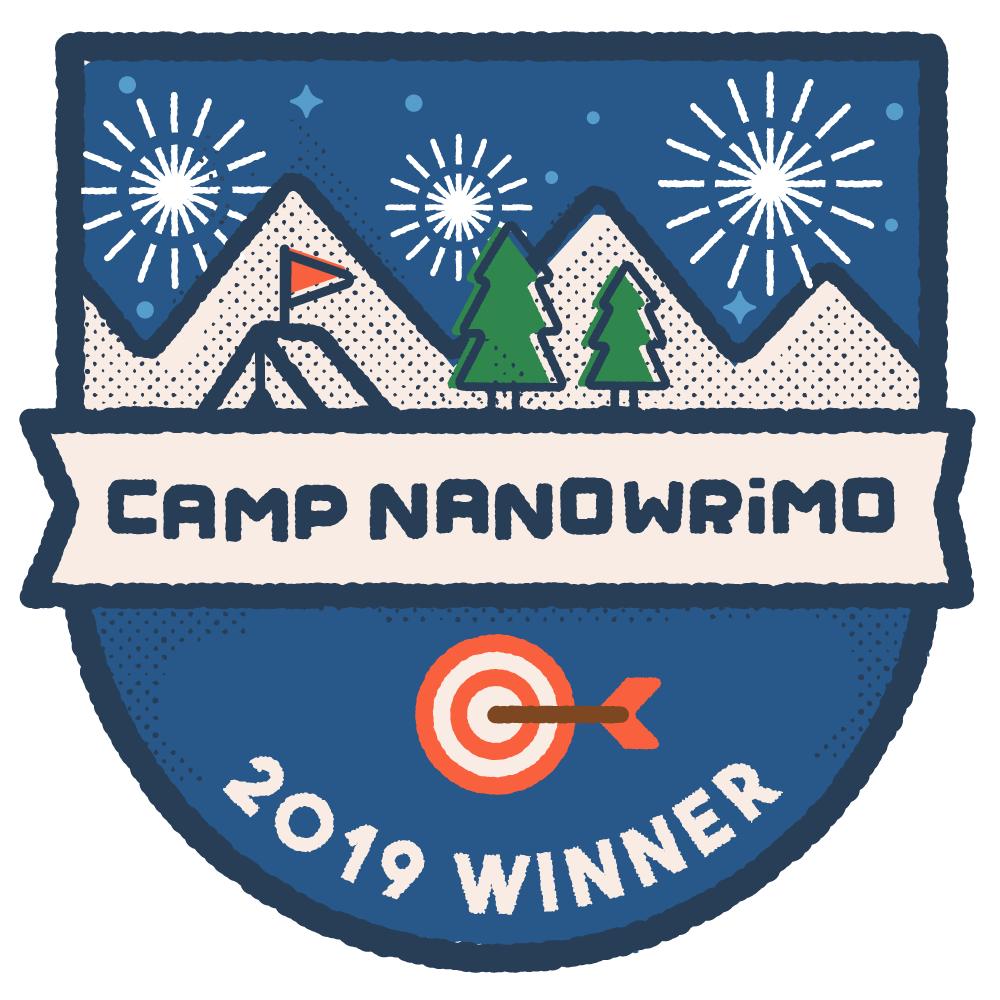 Camp NaNo Winner Badge July 2019